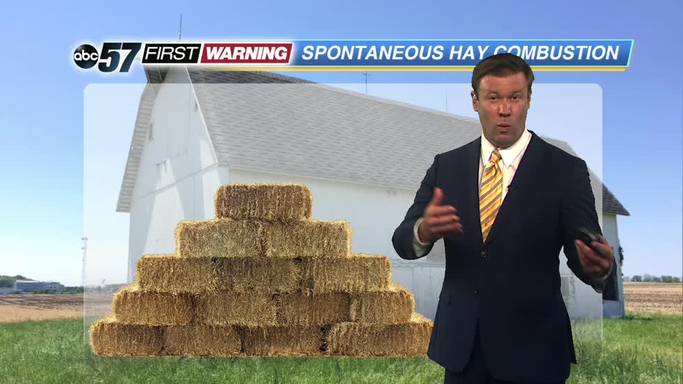 How wet hay can cause hay fires