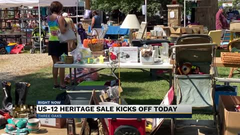 180-mile garage sale on U.S. 12 back for another year