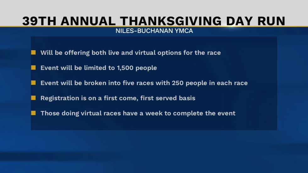 39th annual Niles-Buchanan YMCA Thanksgiving Day Run will still...