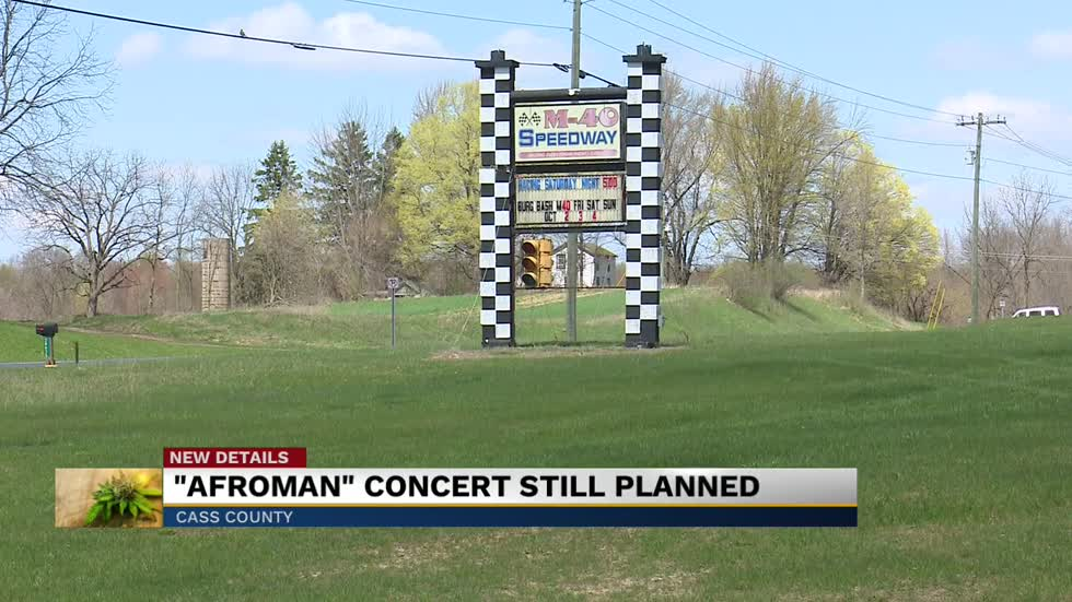 "4/20 ""Afroman"" concert still planned at M40 Speedway"