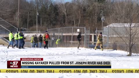 Missing kayaker pulled from St. Joseph River in Niles has died