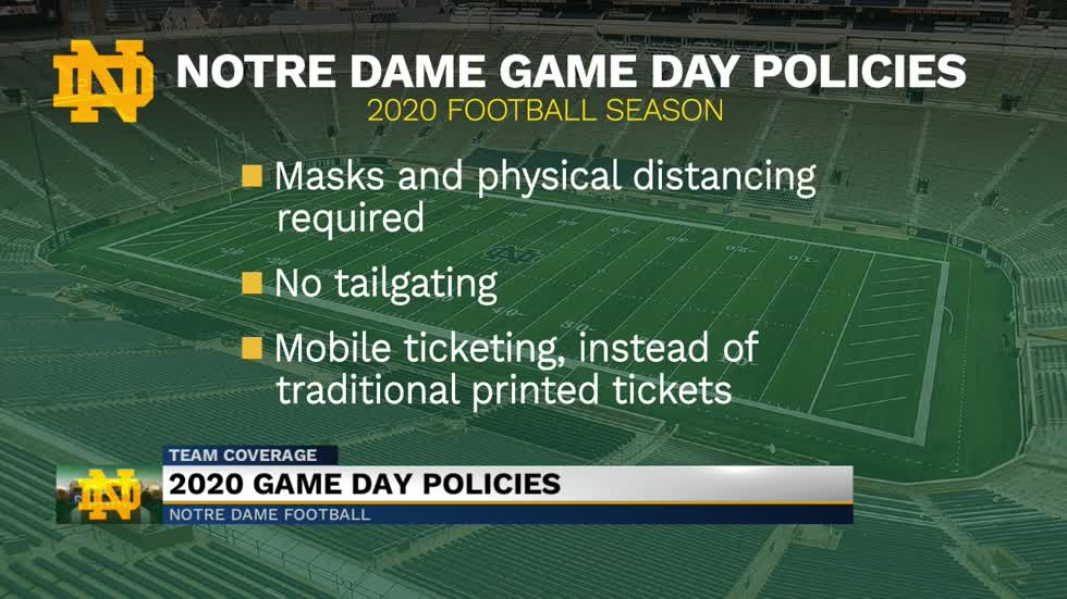 Notre Dame releases plan for football season, stadium limited to 20% capacity