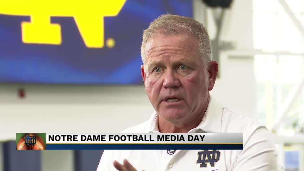 Coach Kelly explains how Notre Dame can become the standard for college football