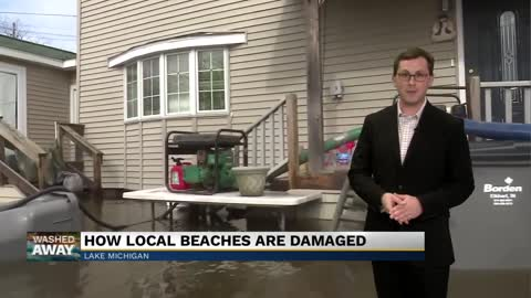 6 p.m.: How local beaches are damaged