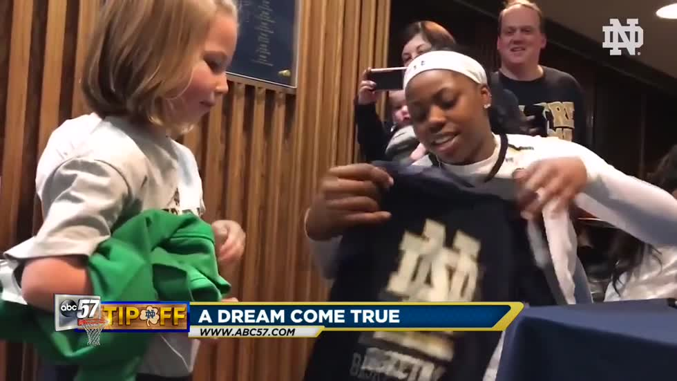 6-year-old a huge fan of Notre Dame women's basketball