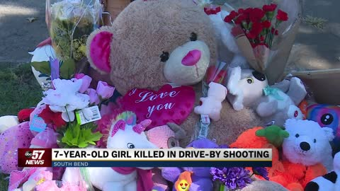 South Bend leaders ask for peace after 7-year-old girl killed in drive-by shooting