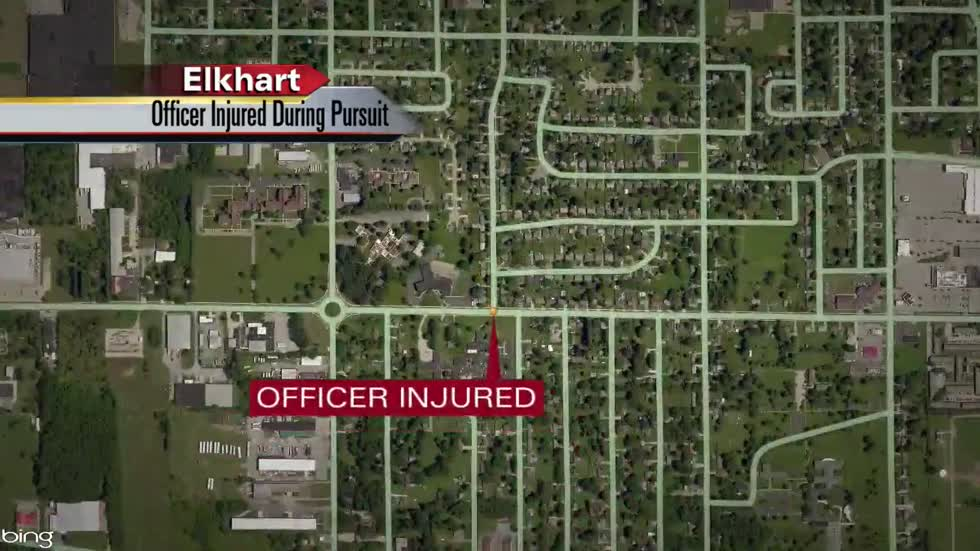 Elkhart County officer dragged by suspect's vehicle