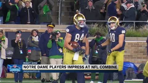 9 Notre Dame players attend 2020 NFL combine, show off their skills