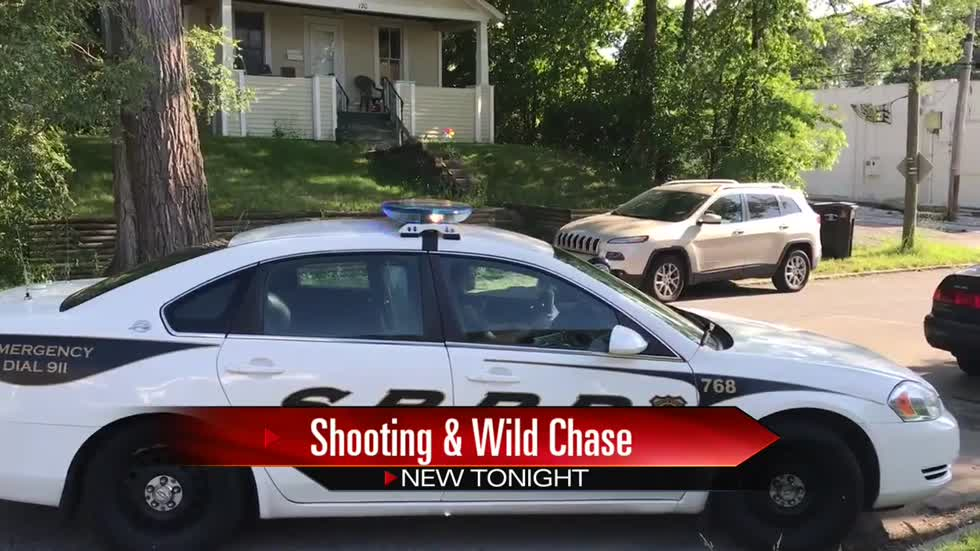 Shooting, police chase leads to arrest; family finds gun in backyard