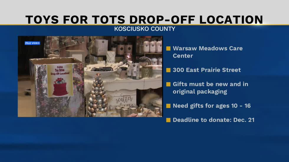 Warsaw nursing home setting up Toys for Tots drop-off box