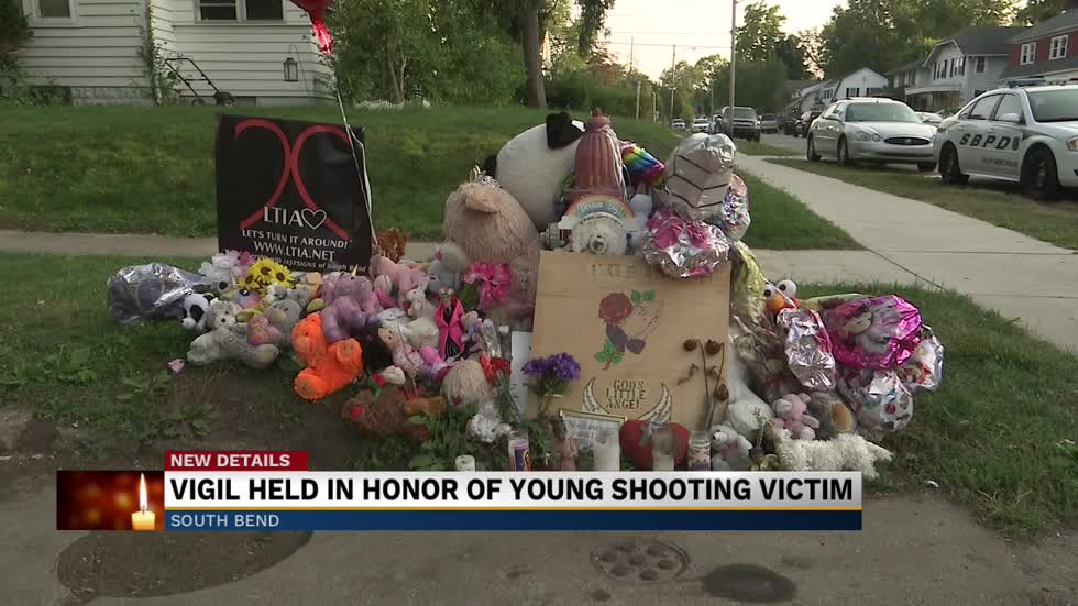 A vigil held for seven-year-old girl killed in drive-by shooting