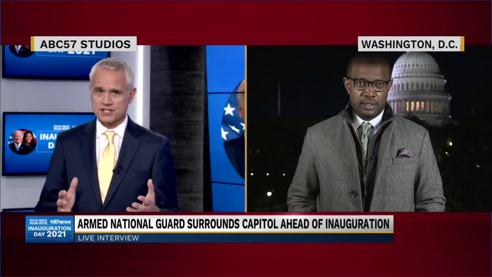 ABC's Alex Presha gives viewers a look at Inauguration preparations...