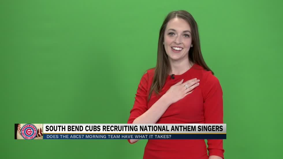 ABC57 Morning Crew ready for National Anthem tryouts