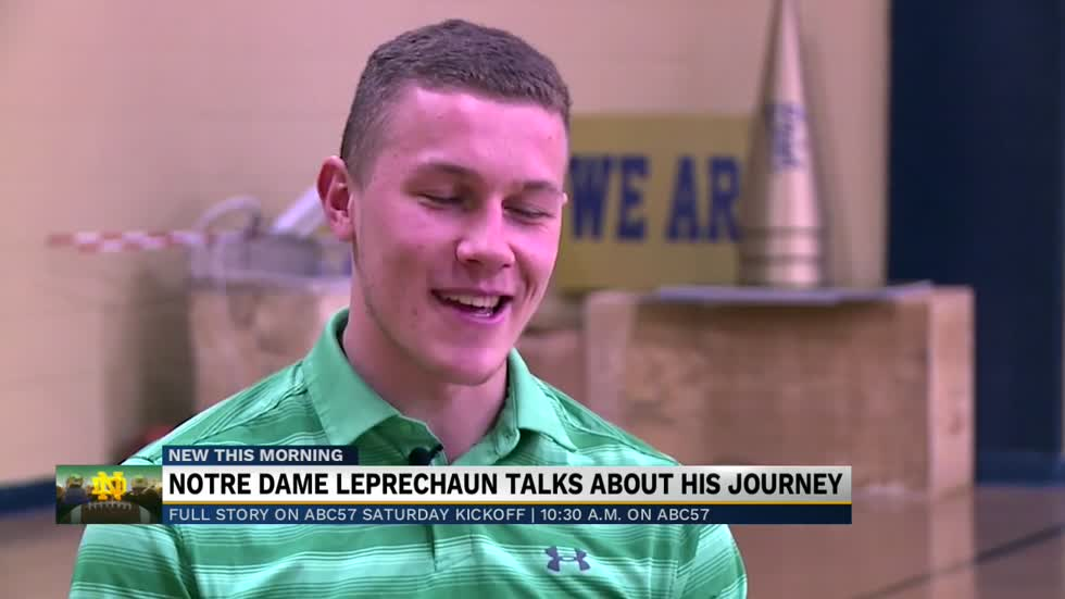 ABC57 Saturday Kickoff preview: Notre Dame Leprechaun