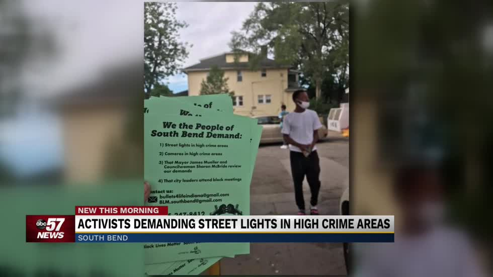 Activists demand street lights and cameras in high crime areas