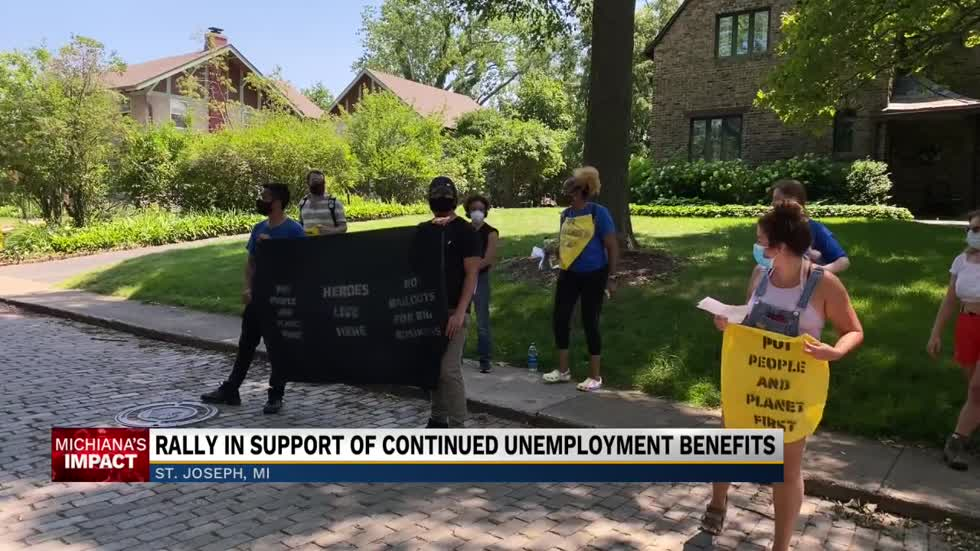Activists rally outside Fred Upton's house