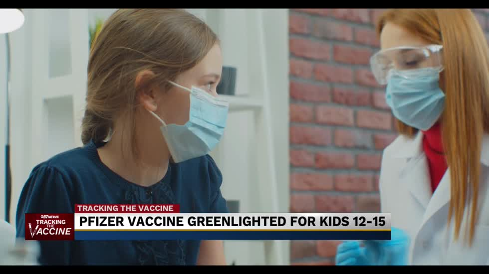 CDC recommends Pfizer vaccines to ages 12-15