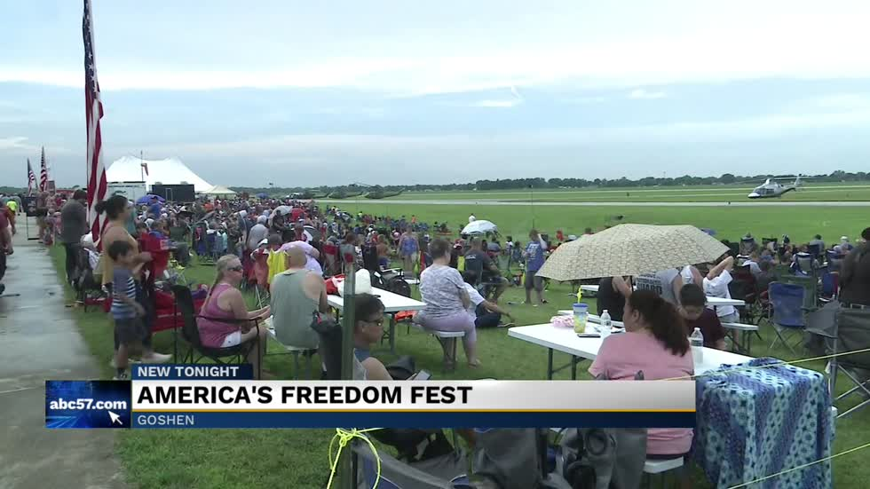 America's Freedom Fest in Goshen dazzles with fireworks and an airshow