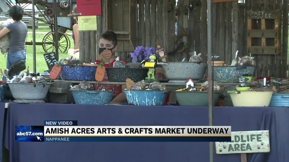 Amish Acres Arts and crafts Market going on now