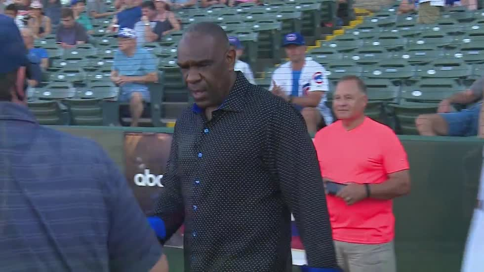 Hall of Famer Andre Dawson makes an appearance at South Bend Cubs game