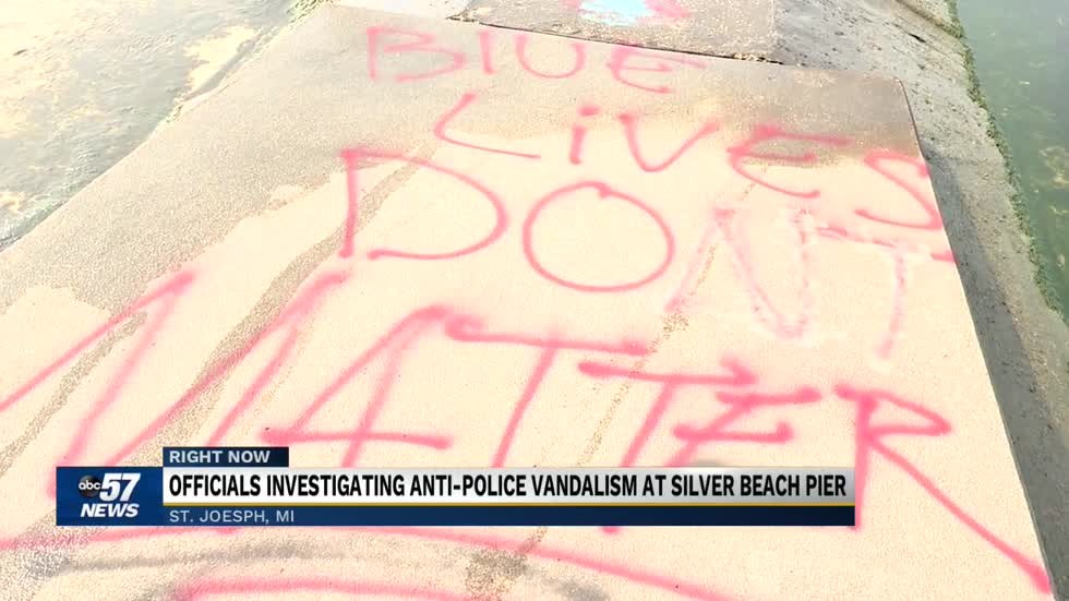 Anti-police vandalism, denial of BLM mural have residents concerned