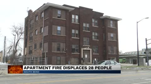 Fire displaces 28 residents of apartment complex in South Bend