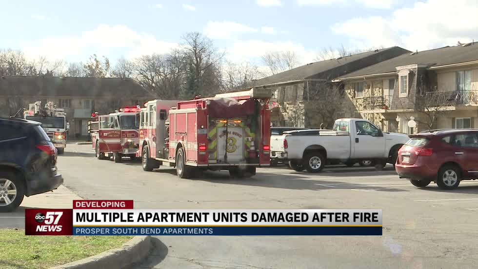 Crews battle fire at South Bend apartment complex