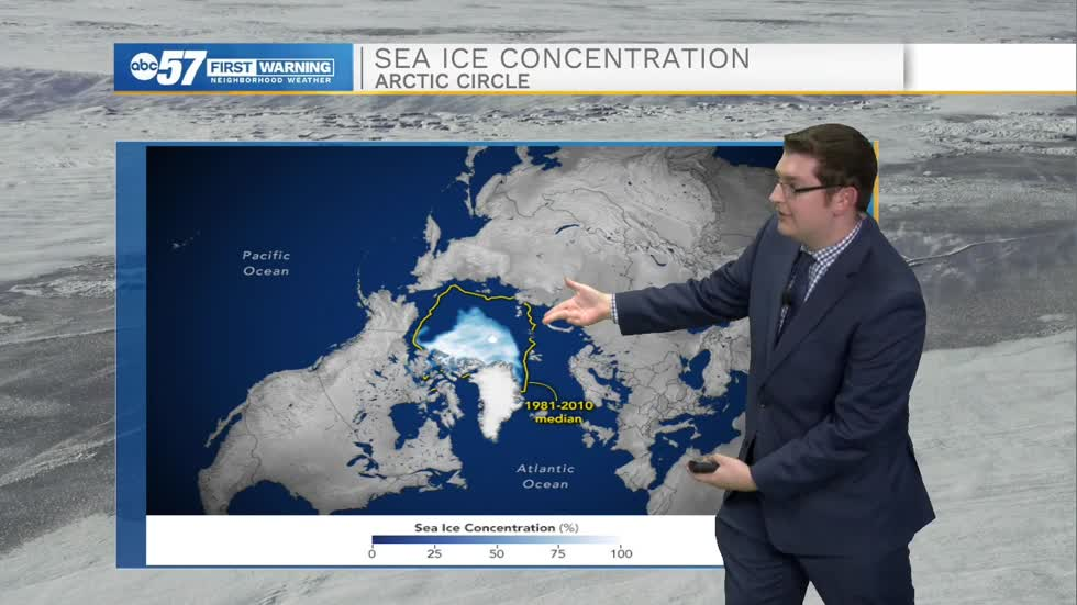 Arctic sea ice near record low