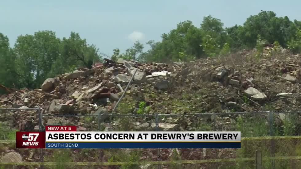Asbestos found at Drewery's site