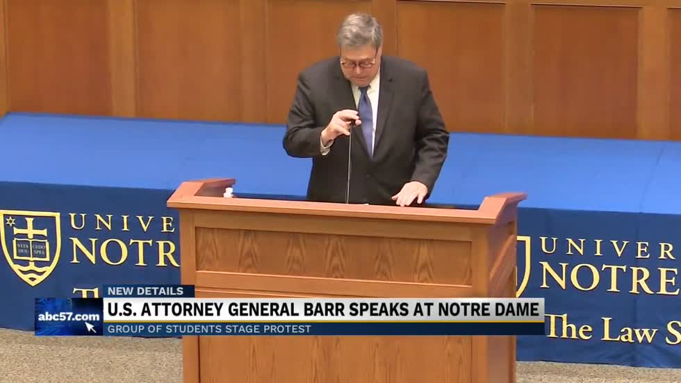 Attorney General Barr speaks at Notre Dame
