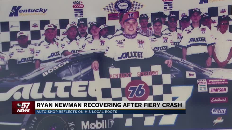 Auto shop reflects on Ryan Newman's local roots as he recovers from fiery crash