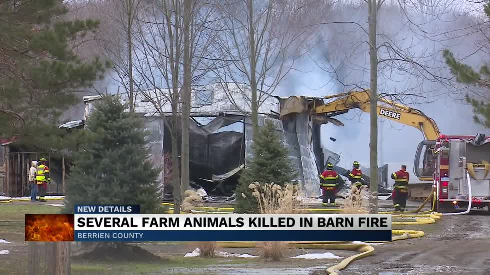 Fire destroys a barn in Berrien County