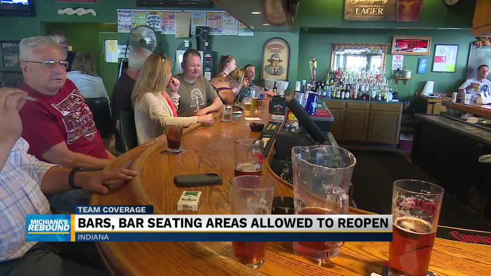 Bars partially re-open in Indiana