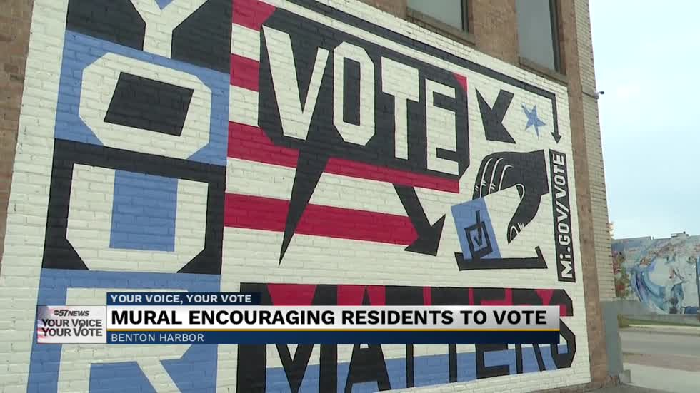 Benton Harbor chosen for mural promoting voter participation