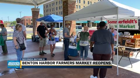 Benton Harbor Farmer's Market reopens