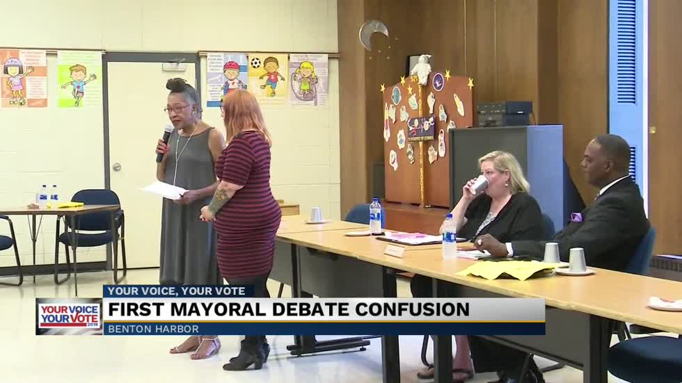 Benton Harbor's Mayoral debate at the Public Library on Tuesday saw five of the six candidates attend another debate