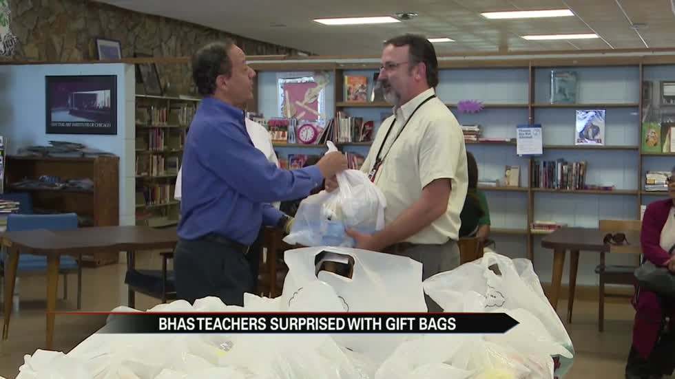 Berrien Co. religious leaders surprise BH teachers with classroom supplies