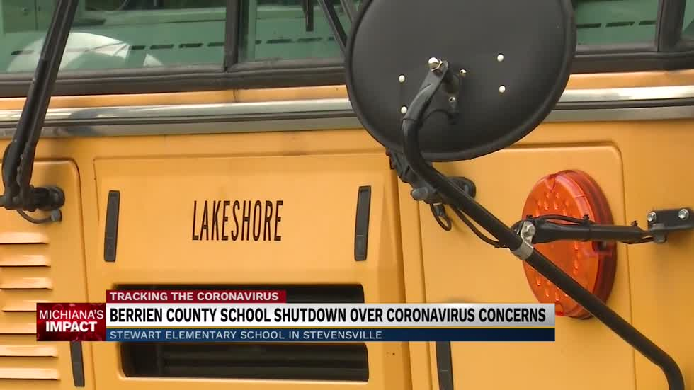 Berrien County school shut down over coronavirus concerns