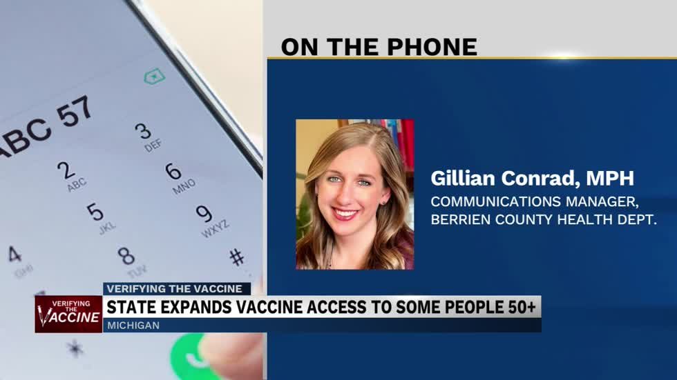 Berrien County lowering age range for COVID-19 vaccination appointments