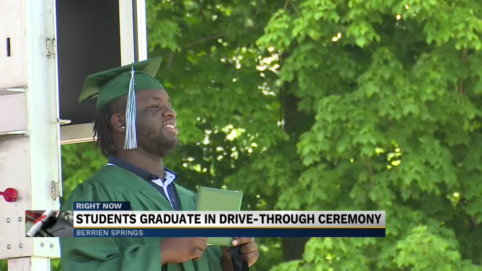 Berrien Springs HS holds drive-in graduation