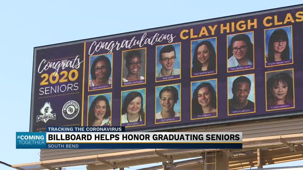 Billboard in South Bend honors Clay High School seniors