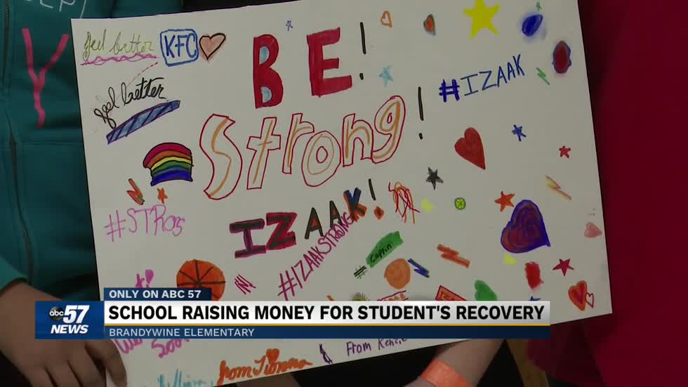 Brandywine Elementary raises record amount of money for student recovering from brain surgery