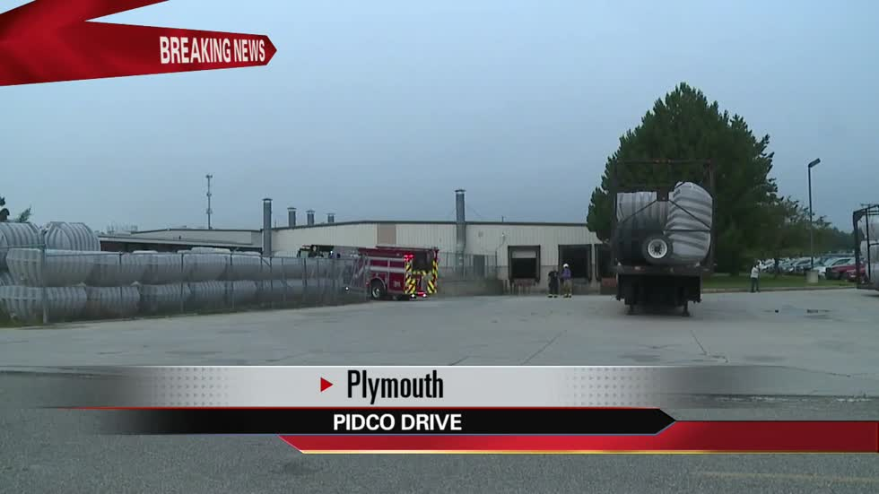Spark causes fire at Plymouth plant