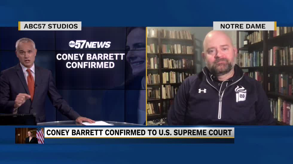 Notre Dame law professor discusses colleague Amy Coney Barrett's...