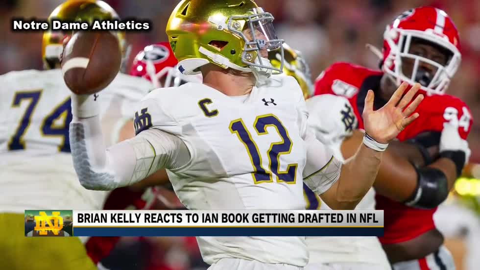 Brian Kelly speaks on the Saints drafting Ian Book
