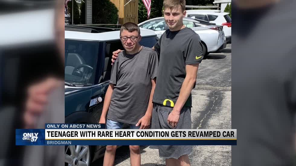 Bridgman teen with rare heart condition gets revamped car