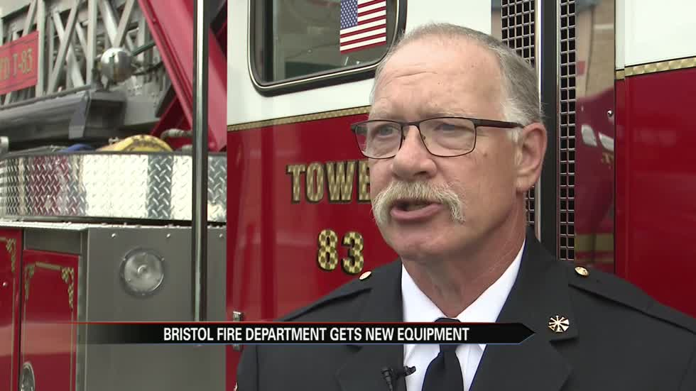 Bristol Fire Department gets new ambulance, aerial fire truck
