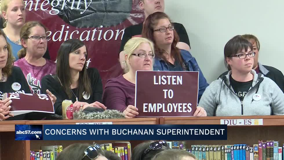 Buchanan community voice concerns with Buchanan Community Schools Superintendent