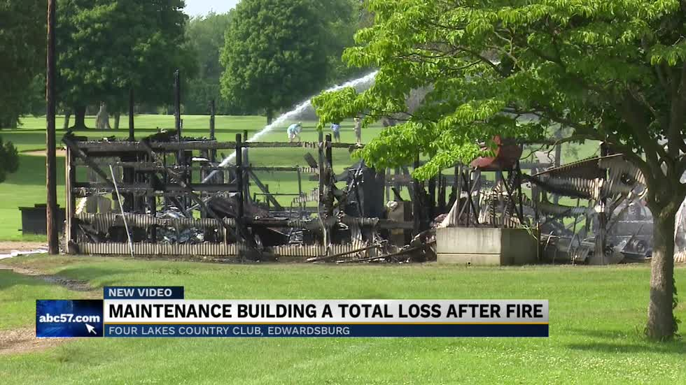 Building at Four Lakes Country Club damaged in fire