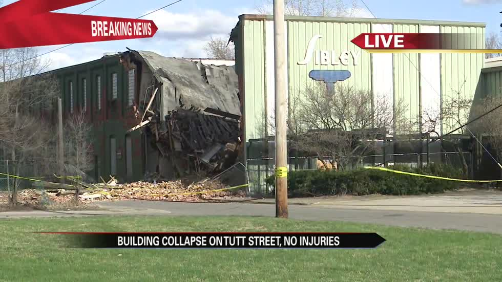 Abandoned industrial building collapses in South Bend
